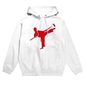 karate painter Hoodies