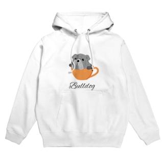コーヒーカップ犬 ブルドッグ Hoodie