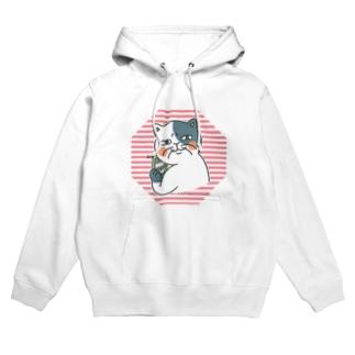 腐女子の猫二田さん2 Hoodies