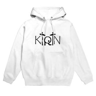 KiRiNのドラムロゴ (B) Hoodies