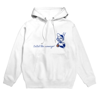 Catch the message ロボット Hoodies