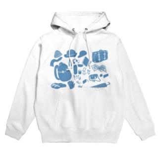 Travel Goods Blue Hoodies