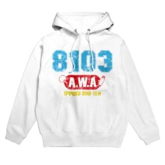 8103-AWA-ビンテージ風A Hoodies