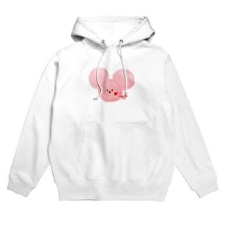 ネズミ ピンク Hoodies