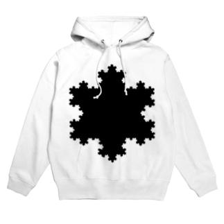 Fractal Koch Snowflake Hoodies