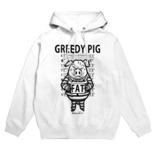 GREEDY PIG Hoodies
