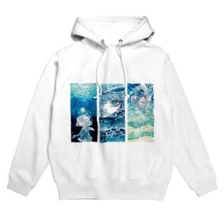 海と少女シリーズ Hoodies