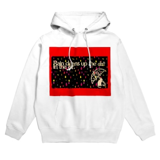 Cat in a Rany Day Hoodies