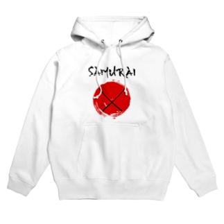 samurai サムライ 侍 刀 剣 日の丸 Hoodies