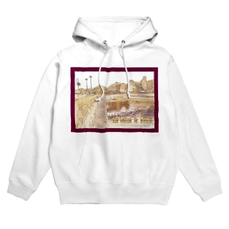 CG絵画:パリのセーヌ川 CG art: La Seine à Paris Hoodies