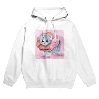 萌獣 猫 ポンデニャイオン:さくらんぼ Hoodies