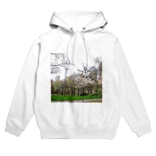 ニューヨーク、セントラルパーク春 Hoodies