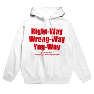 Yng-Way俺のやり方(赤バージョン) Hoodies