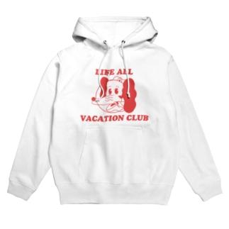 いぬねこちゃん/LIFE ALL VACATION CLUB Hoodies
