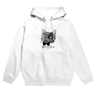 黒猫のヴィヴィ(蝶ネクタイ) Hoodies