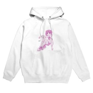 つみれのピンクちゃん Hoodies