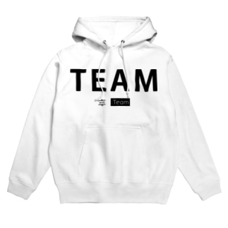 TEAM with :Team (黒) Hoodies