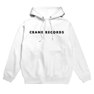 CRANE RECORDS ふちどりグレー Hoodies