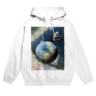 スプレーアート❣️地球🌏 オシムラ作品 Hoodies