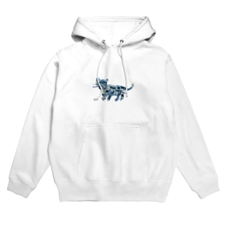 Blue Tiger Hoodies