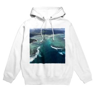 モーリシャスの海中の滝 Hoodies