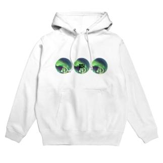 Iris4 緑のオーロラ Hoodies