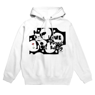 androgyneのLOVE FRENCH-BULLDOG Hoodies