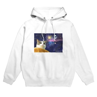 space CHIKUWA CAT Hoodies