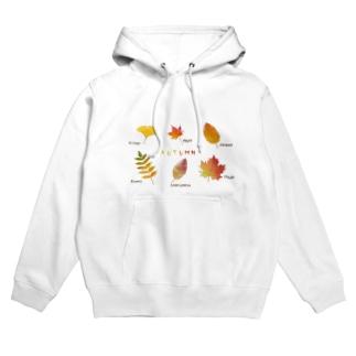 秋の葉っぱ Hoodies