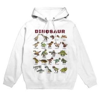 ちょっとゆるい恐竜図鑑 Hoodies