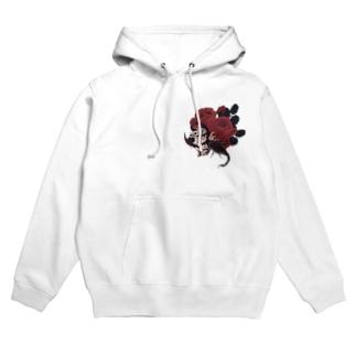 蠍と薔薇 Hoodies