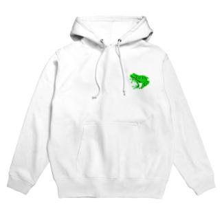 カエル(緑) Hoodies