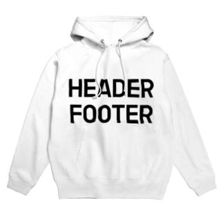 HEADER FOOTER Hoodies