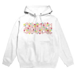 pink honeycomb Hoodies