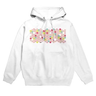pink honeycomb Hoodies