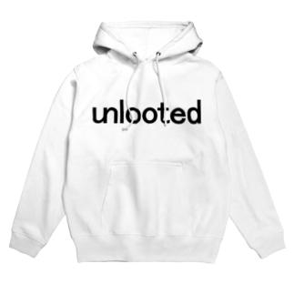 unlooted black Hoodies