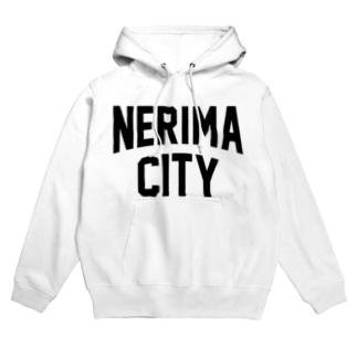 練馬区 NERIMA CITY ロゴブラック Hoodies