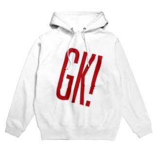 GK!ロゴ(赤) Hoodies