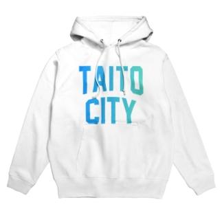 台東区 TAITO CITY ロゴブルー Hoodies