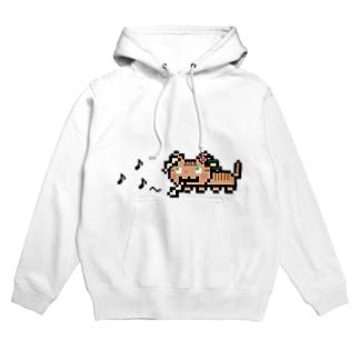 角笛猫2D-1 Hoodies