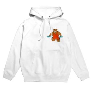 WRESTLE KUMA(オレンジ) Hoodies
