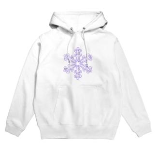 クリスマスTシャツ@雪の結晶 Hoodies