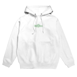 three LOGO NEON ForestGreen Hoodies
