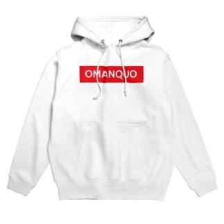 OMANQUO -オマンクォ- ボックスロゴ Hoodies