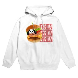 パンダとハンバーガー Hoodies