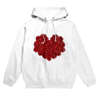赤のバレンタイン Hoodies