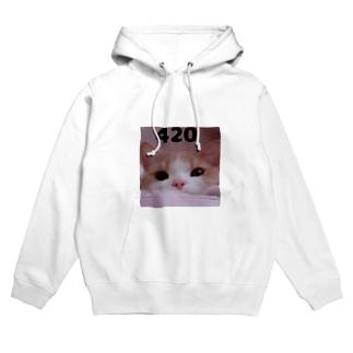 ジョル猫420 Hoodies