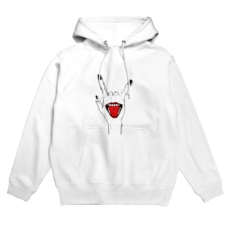 mouth in the hand Hoodies