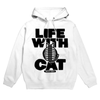 LIFE WITH a CAT フーディ Hoodies