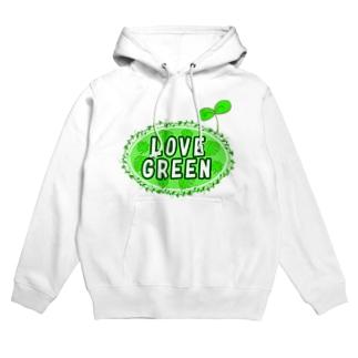 LOVE GREEN (ふたば) Hoodies